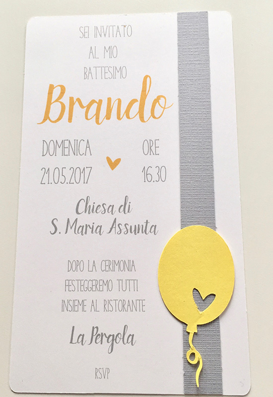 battesimo yellow&grey
